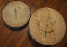 I have 2 wooden cheese boxes I need ideas for.  I love this look.