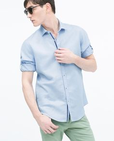 ZARA - MAN - LINEN/COTTON SHIRT
