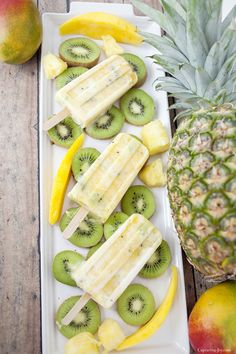 Citrus Protein Pops -a healthy and delicious summer treat!