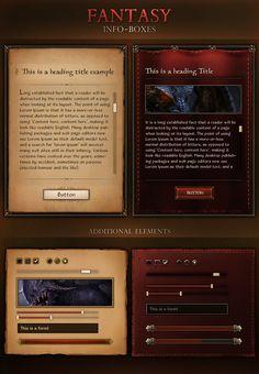 Fantasy Info Boxes 2.0 by VengeanceMK1.deviantart.com on @DeviantArt