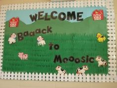 My favorite poster so far! Welcomes students back to school and music in August!!