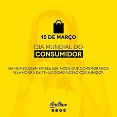 | -- Dia Mundial do Consumidor -- |  #consumidor #parabens #empresa #trabalho by artericco Leo, Instagram, Movie Posters, Design, World Days, International Women's Day, Massage, Dates, Bunny