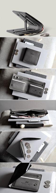 #hardgraft Zip Wallet / Neutral