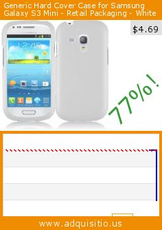 Generic Hard Cover Case for Samsung Galaxy S3 Mini - Retail Packaging - White (Wireless Phone Accessory). Drop 77%! Current price $4.69, the previous price was $19.99. http://www.adquisitio.us/hr/samsung-galaxy-s3-mini-9