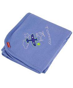 PersonalizeMyBabyBlanket.com - Kushies Airplane Certified Organic 100% Cotton Rib Baby Blanket - Personalized Embroidery, $16.00 (http://personalizemybabyblanket.com/kushies-airplane-certified-organic-100-cotton-rib-baby-blanket-personalized-embroidery/)