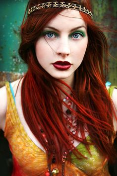 Love the red hair and makeup!