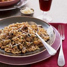 Mushroom Orzo Risotto from My Recipes, found @Edamam!