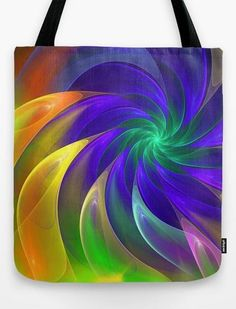 Abstract Color Swing Tote Bag