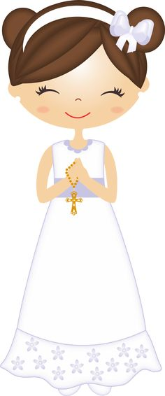 Nice Girls First Communion Free Images Clipart. This images will help you for doing decorations, invitations, toppers, cards an. First Communion Cards, Première Communion, First Holy Communion, Mini Scrapbook Albums, Mini Albums, Scrapbook Paper, Scrapbooking, Clipart, Cherry Blossom Party