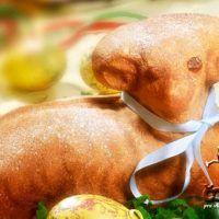 Piškotový beránek s čokoládou uvnitř | ReceptyOnLine.cz Pear, Food And Drink, Chicken, Dinner, Fruit, Spring, Easter Activities, Dining, Food Dinners