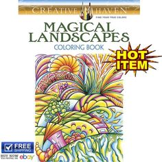 Creative Haven Adult Coloring Books Magical Landscapes Painting Relax Fantasy US
