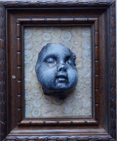 Original Gothic Doll head Assemblage Sculpture