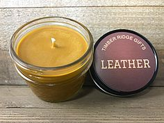 A personal favorite from my Etsy shop https://www.etsy.com/listing/524693520/leather-candle-soy-candle-mason-jar