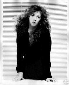 and another photo of Stevie ~ ☆♥❤♥☆ ~ posing in front of the now-iconic venetian blinds used many times for photos of all the members of Fleetwood Mac by her friend and music celebrity Herbert W. Worthington 111, who took this photo