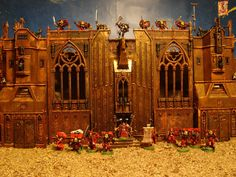 40k terrain fortress monastery - Google Search 40k Terrain, Space Marine, Warhammer 40k, Style Guides, Barcelona Cathedral, Beast, Gallery, Building, Painting