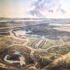 #CentralPark in 1864 #NYC #litho #Prints #vintage #cartography #maps