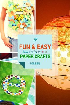 Paper craft ideas for the kids. Fun ideas in here!