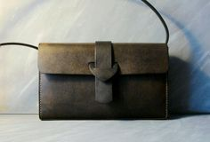Handmade Olive Leather bag  Vintage / Retro Style with by kiwabags, $156.00