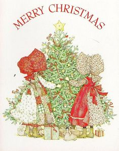 Holly Hobbie♥Christmas I remember when Holly Hobby was very popular. Noel Christmas, Vintage Christmas Cards, Christmas Images, Xmas Cards, Vintage Cards, All Things Christmas, Christmas Crafts, Holly Hobbie, Hobbies To Try