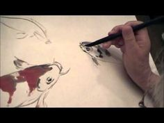 ▶ Koi Chinese Brush Painting by Professor I-Hsiung Ju- YouTube