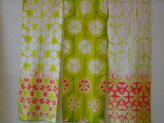 Love the color combinations in these shibori pieces created by Stephanie Grebel Sato   via flickr