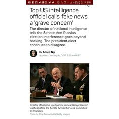 So is this a pot calling the kettle black moment or something that is more sinister like how everything else starts... #prequel  Propaganda is what it is and when used with fear because its known most won't research it shows the Evil Greed and Soul-less  Insert below via C-Net  Russia's growing use of fake news part of an effort to disrupt the election was even more disturbing Clapper said. The spread of Russian propaganda was the most aggressive and direct attempt to interfere in a US…