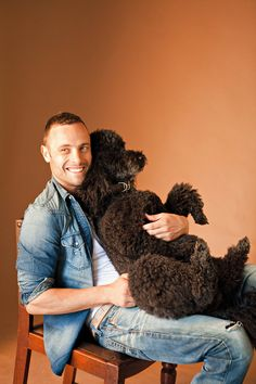 .Nothing sexier than a man and his poodle!