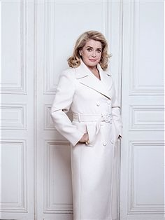 Actress Catherine Deneuve is photographed for Madame Figaro on August 30, 2016 in Paris, France. Coat (Gucci) and ring (Cartier).