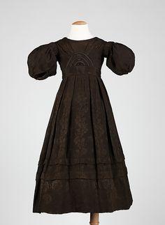 Dress  Date: ca. 1835 Culture: American Medium: silk, cotton
