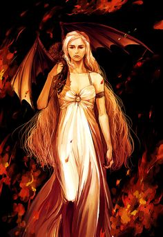 Daenerys Targaryen the mother of Dragons