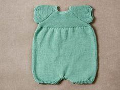 Pelele manga corta tricotado con algodón #RubiNatural #modainfantil