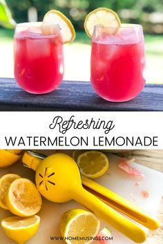 Easiest way to make fresh watermelon lemonade! #lemonade #juice #watermelon #summer #freshsqueezed #easy #recipe #budget Fruit Recipes, Smoothie Recipes, Blender Recipes, Drink Recipes, Jelly Recipes, Canning Recipes, Appetizer Recipes, Recipies, Non Alcoholic Drinks