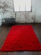 RUBY RED 5'x 7' FLOKATI SHAG RUG/ 2