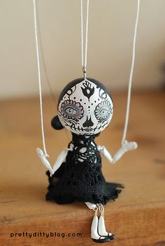 day of dead peg by Pretty Ditty, via Flickr
