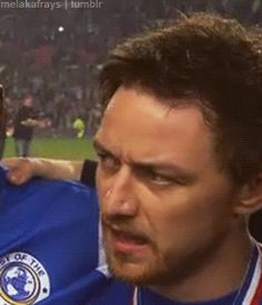 James McAvoy- he needs to seriously stop that.