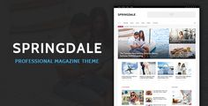 Springdale - Magazine PSD Template . Springdale is a fashionable and elegant magazine template, created for stylish content delivery. Springdale include all popular features that will help you in your