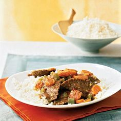 Stir-Fried Beef with Ginger-Carrot Sauce | CookingLight.com