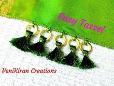 How to Make Saree Tassel/Kuchu design with Beads @ Home - Design Saree Tassels Designs, Saree Kuchu Designs, Blouse Neck Designs, Thread Jewellery, Silk Thread, Hand Designs, Couture, Jewelry Patterns, Hand Embroidery