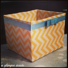 DIY Diaper Box Turned Toy Bin----i could totally do this!  AND I happen to have diaper boxes!