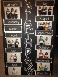 A great visual for the birthday board!