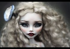 Monster High Repaint Art Doll OOAK Ghoulia  www.etsy.com/listing/502995106/monster-high-repaint-art-d...