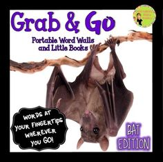 50% off for Markdown Monday!Grab & Go: Portable Word Walls and Little Books Bat EditionThese portable word walls are very versatile. Everything available in color and black and white! Get a freebie to use with the portable word wall cards!  Students can explore characteristics of bats with this FREE interactive chart and sorting activities! $5.00