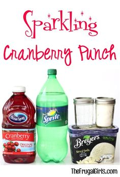 Sparkling Cranberry Party Punch Recipe! ~ from TheFrugalGirls.com - this easy, fabulous punch is perfect for your parties, showers, and holidays! #recipes #punches #thefrugalgirls