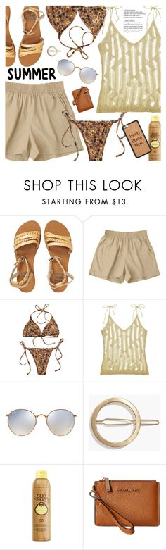 """""""Summer Style"""" by pokadoll ❤ liked on Polyvore featuring Billabong, Ray-Ban, Madewell, Sun Bum and MICHAEL Michael Kors"""