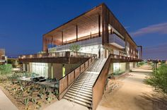 Located in Phoenix, Arizona, the Integrated Education Building serves as the anchor for the GateWay Community College. Its developers are seeking LEED Gold Certification for the building, meaning it uses minimal energy.