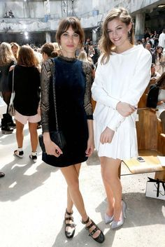The best of front row at the couture shows - Alexa Chung and Amber Anderson at Chanel.