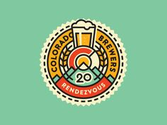 Colorado Brewers Rendezvous 20 Logo by Jared Jacob