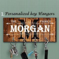 Key Hanger  Custom Wood Key Holder For Wall Personalized Key Hanger Made Of MDF Wall Key Hanger Housewarming Gift  Anniversary Gift