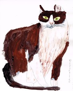 Miroco Machiko: art illustration cat