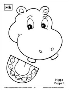 The Letter H: Hippo Alphabet Puppet
